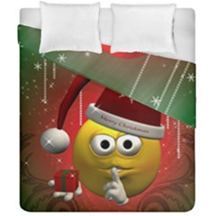 Funny Christmas Smiley Duvet Cover (double Size) by FantasyWorld7