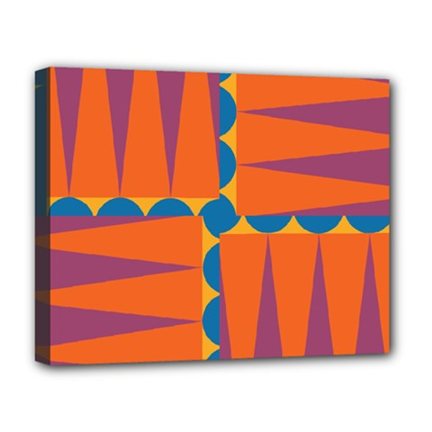 Angles Deluxe Canvas 20  X 16  (stretched) by LalyLauraFLM