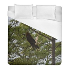 Bald Eagle 2 Duvet Cover Single Side (twin Size)