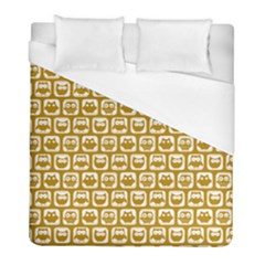 Olive And White Owl Pattern Duvet Cover Single Side (twin Size) by creativemom