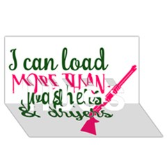 I Can Load More Than Washers And Dryers Hugs 3d Greeting Card (8x4)  by CraftyLittleNodes