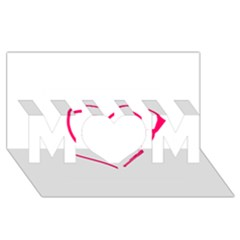 Customizable Shotgun Heart Mom 3d Greeting Card (8x4)  by CraftyLittleNodes