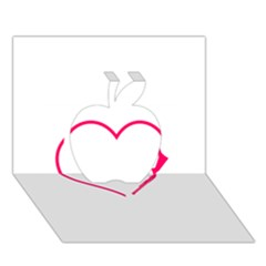 Customizable Shotgun Heart Apple 3d Greeting Card (7x5)  by CraftyLittleNodes