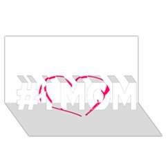Customizable Shotgun Heart #1 Mom 3d Greeting Cards (8x4)  by CraftyLittleNodes