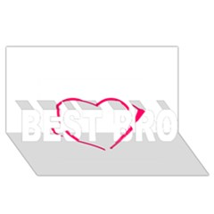 Customizable Shotgun Heart Best Bro 3d Greeting Card (8x4)  by CraftyLittleNodes