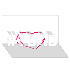 Customizable Shotgun Heart #1 Dad 3d Greeting Card (8x4)  by CraftyLittleNodes