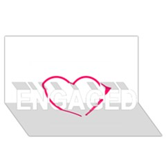 Customizable Shotgun Heart Engaged 3d Greeting Card (8x4)  by CraftyLittleNodes