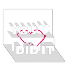 Customizable Shotgun Heart You Did It 3d Greeting Card (7x5) by CraftyLittleNodes