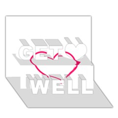 Customizable Shotgun Heart Get Well 3d Greeting Card (7x5)  by CraftyLittleNodes