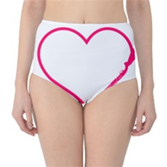 Customizable Shotgun Heart High-waist Bikini Bottoms by CraftyLittleNodes