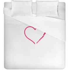 Customizable Shotgun Heart Duvet Cover (king Size) by CraftyLittleNodes