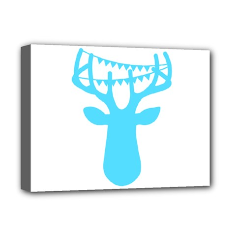 Party Deer With Bunting Deluxe Canvas 16  X 12   by CraftyLittleNodes