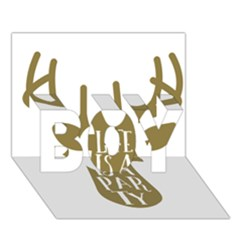 Life Is A Party Buck Deer Boy 3d Greeting Card (7x5) by CraftyLittleNodes