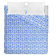 Blue And White Owl Pattern Duvet Cover (full/queen Size)
