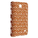 Orange And White Owl Pattern Samsung Galaxy Tab 4 (7 ) Hardshell Case  View3