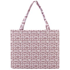 Light Pink And White Owl Pattern Tiny Tote Bags by creativemom