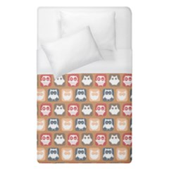 Colorful Whimsical Owl Pattern Duvet Cover Single Side (single Size) by creativemom