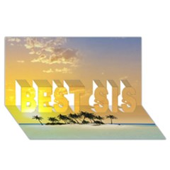 Beautiful Island In The Sunset Best Sis 3d Greeting Card (8x4)  by FantasyWorld7