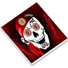 Funny Happy Skull Small Memo Pads by FantasyWorld7