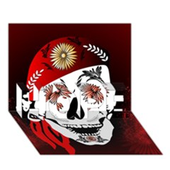 Funny Happy Skull Hope 3d Greeting Card (7x5)  by FantasyWorld7