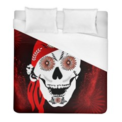 Funny Happy Skull Duvet Cover Single Side (twin Size) by FantasyWorld7