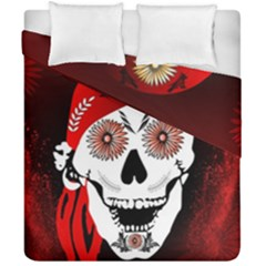 Funny Happy Skull Duvet Cover (double Size) by FantasyWorld7