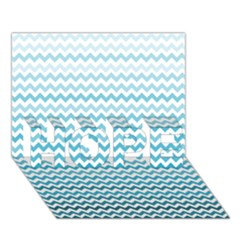 Perfectchevron Hope 3d Greeting Card (7x5)  by CraftyLittleNodes