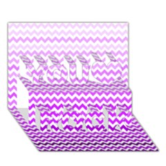 Purple Gradient Chevron You Rock 3d Greeting Card (7x5)  by CraftyLittleNodes
