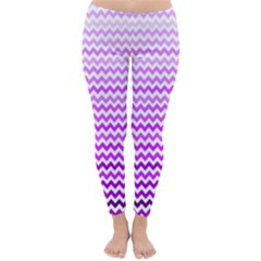 Purple Gradient Chevron Winter Leggings by CraftyLittleNodes