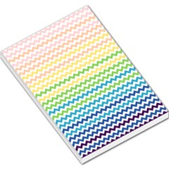 Pastel Gradient Rainbow Chevron Large Memo Pads by CraftyLittleNodes