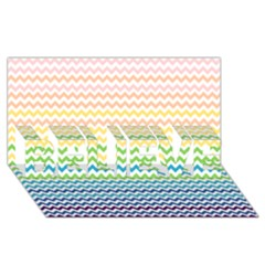 Pastel Gradient Rainbow Chevron Believe 3d Greeting Card (8x4)  by CraftyLittleNodes