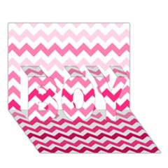 Pink Gradient Chevron Large Boy 3d Greeting Card (7x5) by CraftyLittleNodes