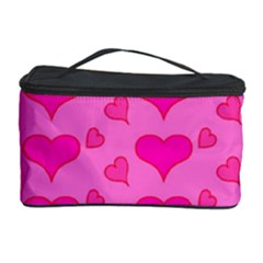Hearts Pink Cosmetic Storage Cases by MoreColorsinLife