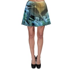 Funny Dolphin In The Universe Skater Skirts