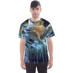 Funny Dolphin In The Universe Men s Sport Mesh Tees