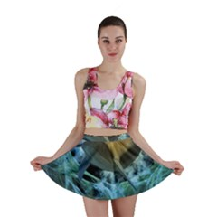 Funny Dolphin In The Universe Mini Skirts