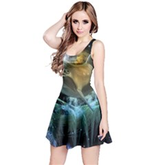 Funny Dolphin In The Universe Reversible Sleeveless Dresses