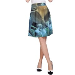 Funny Dolphin In The Universe A-line Skirts