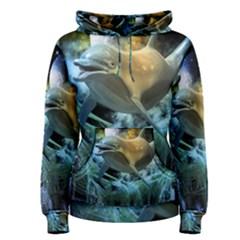 Funny Dolphin In The Universe Women s Pullover Hoodies