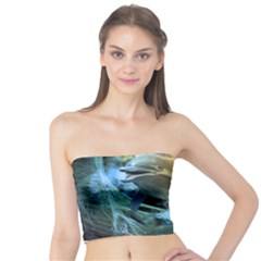 Funny Dolphin In The Universe Women s Tube Tops