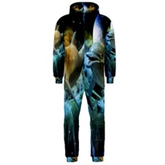 Funny Dolphin In The Universe Hooded Jumpsuit (men)