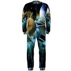 Funny Dolphin In The Universe Onepiece Jumpsuit (men)