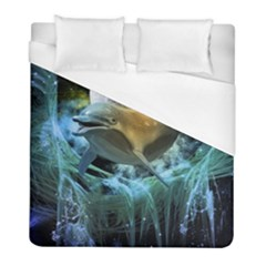Funny Dolphin In The Universe Duvet Cover Single Side (twin Size)