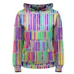 Colorful Vintage Stripes Women s Pullover Hoodie by LalyLauraFLM