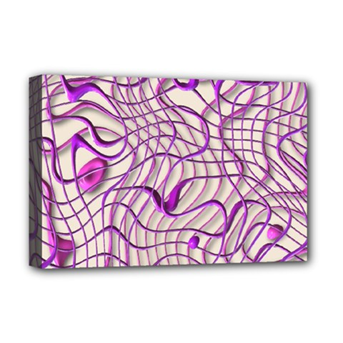 Ribbon Chaos 2 Lilac Deluxe Canvas 18  X 12   by ImpressiveMoments