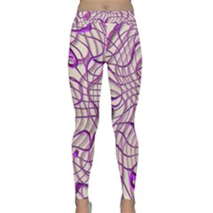 Ribbon Chaos 2 Lilac Yoga Leggings by ImpressiveMoments