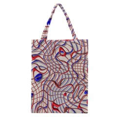 Ribbon Chaos 2 Red Blue Classic Tote Bags