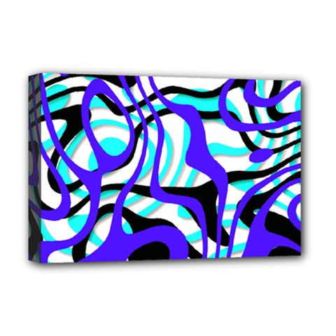 Ribbon Chaos Ocean Deluxe Canvas 18  X 12   by ImpressiveMoments