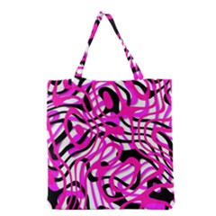 Ribbon Chaos Pink Grocery Tote Bags