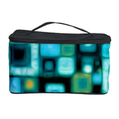 Teal Squares Cosmetic Storage Cases by KirstenStar